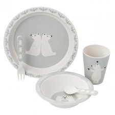 Bamboo dinner set Polar Bear