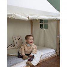 Bed Frame House, Beech Wood - 140x70 cm