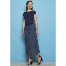 Long skirt Malvine in organic cotton