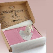Baby cot parure Mymami in Organic Peach cotton
