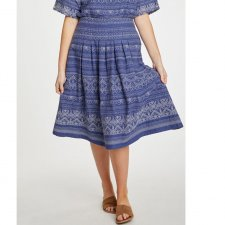 Jacqualine Embroidered Cotton Skirt