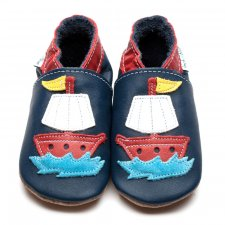 Pirate Ship soft shoe inch blue