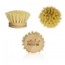 Dishes brush in wood and vegetable fiber