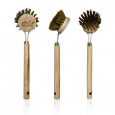 Grill Brush with wooden handle and brass bristles