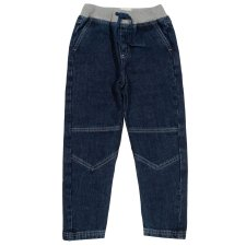 Jeans with elastic belt in organic cotton for children