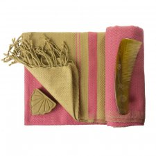 FOUTA SAND and Indian Pink in organic cotton