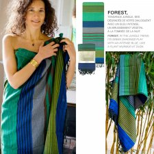 FOUTA EBENE FOREST in organic cotton