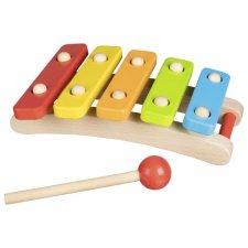 5 tone Goki xylophone in natural wood