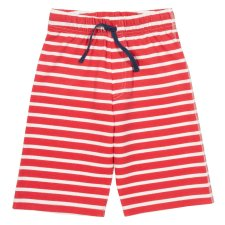 Corfe shorts red in organic cotton