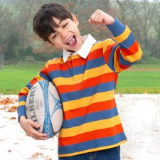 Kids Rugby Shirt in Organic Cotton