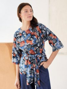Lyme Hemp Printed Top