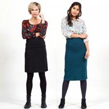 Organic Cotton Fold Over Waistband Skirt