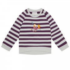 Stripes Sweater Leotie Bird in Organic Cotton