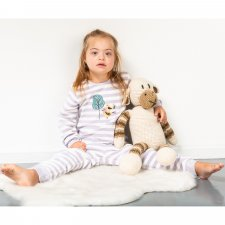 Baby Lilac stripes Pajama in Organic Cotton