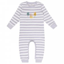 Baby stone lilac stripes Bodysuit romper in organic cotton