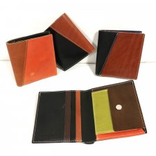 Fair trade vegetable tanned wallet