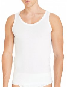 Man Undershirt Vest Wide Shoulder BioCotton in pure organic cotton