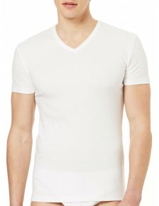 V-neck t-shirt in warm organic cotton