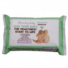 Beaming Baby Certified Organic Baby Wipes Fragrance Free 72 pcs