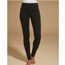 Women's black leggings in Viscose EcoMicrofiber