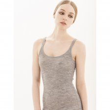 Shoulder strap vest top in soft merino wool