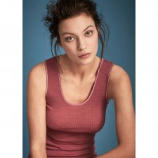 Undersexi vest top in natural wool and silk