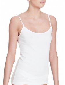 Biocotton vest top with shoulder strap in organic cotton