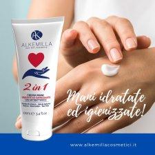 Moisturizing and sanitizing hand cream BioVegan - Alkemilla
