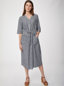 Catterina Hemp Striped Pocket Dress