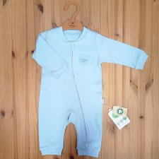 Kitikate romper with zip in heavy organic cotton