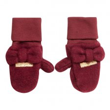Gloves Mittens with bow in merino wool