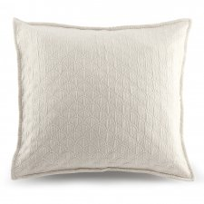 Square Wave Pillow Cover in organic cotton