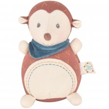Ethan Hedgehog with rattle in Organic Cotton