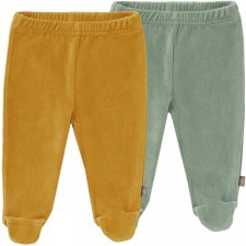Chenille Baby pants in organic cotton