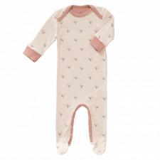 Dandelion pajamas with feet in organic cotton
