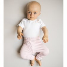 Rose newborn pants nanaf organic in bamboo