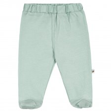 Baby Mint gaiters in organic cotton