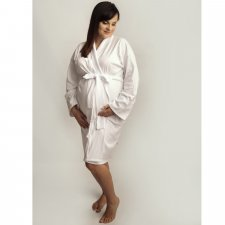 Pregnancy dressing gown in Bamboo