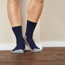 Trekking socks in wool and organic cotton