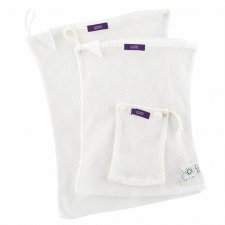 Mesh bags for washing machine in organic cotton 3 pieces