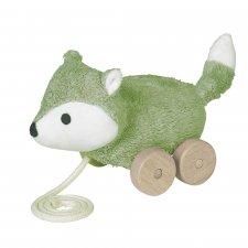 Fox pull toy in organic cotton