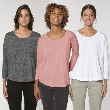 Waver Slub woman sweater in organic cotton