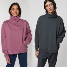 Unisex high-neck Strider sweatshirt in organic cotton