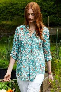 Tresco shirt in fair trade cotton voile