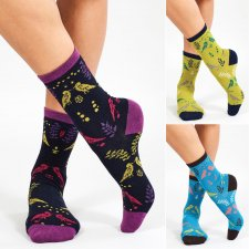 Organic Cotton Cornish Chough Socks