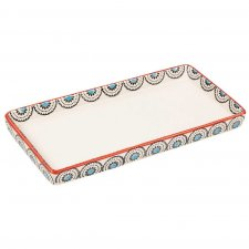 MATTHES tray in hand painted glazed ceramic