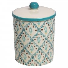 NAILA container in hand painted glazed ceramic