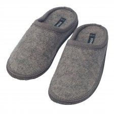 Slippers in pure boiled wool GRAY