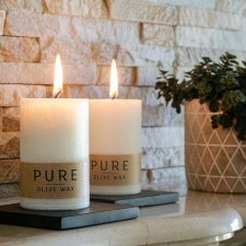 PURE NATURE candle with olive oil wax