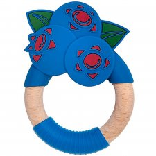 Superfood Blueberry Teether in Wood and Food Grade Silicone